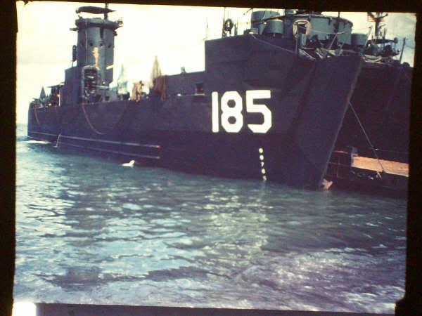 Griffin's ship, LSM 185, location unknown.