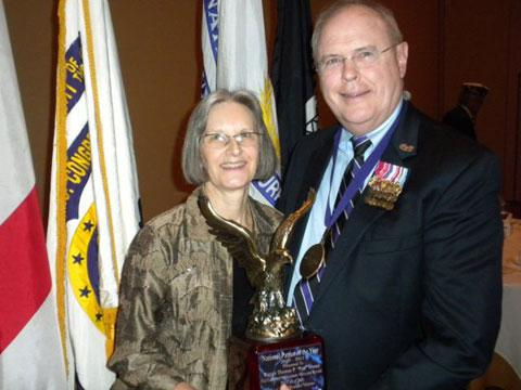 Judge Patt Maney and his wife Caroline when he was awarded Patriot of the Year (2010) by the Military Order of the Purple Heart.