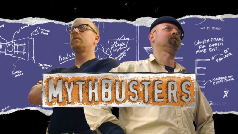 MythBusters hosts Adam Savage and Jamie Hyneman