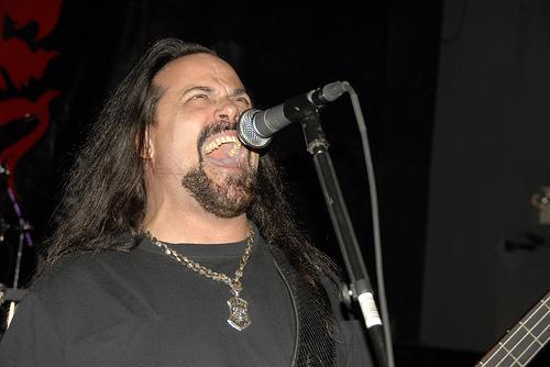 Glen Benton, singer for Tampa-based death metal band Deicide