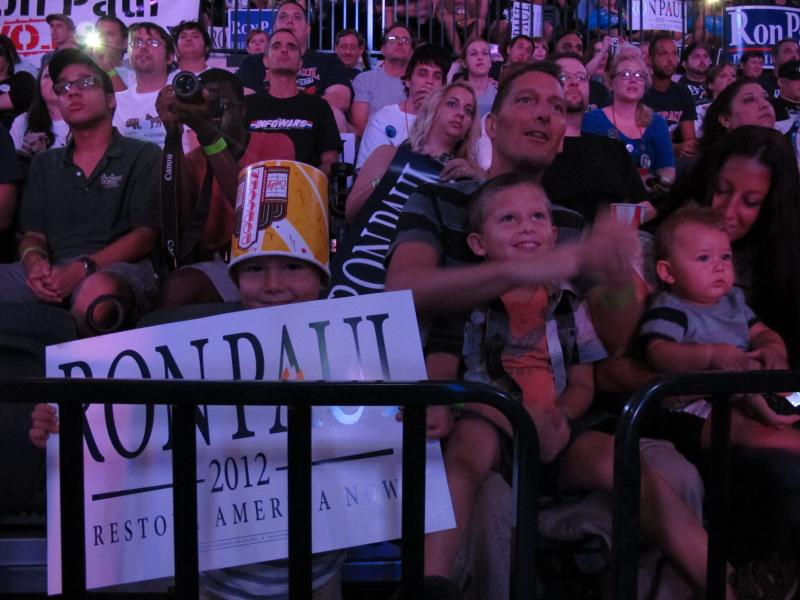 A family of Ron Paul supporters.
