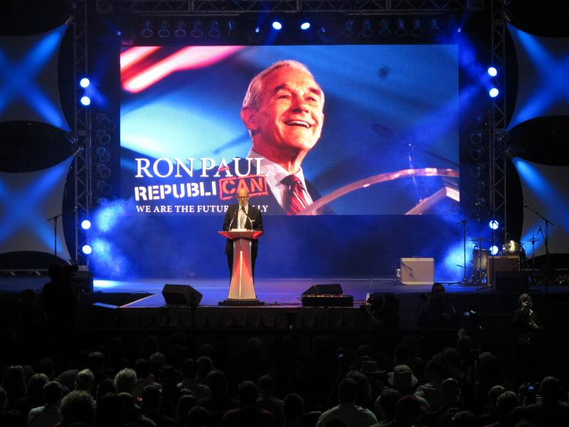 The Ron Paul rally.