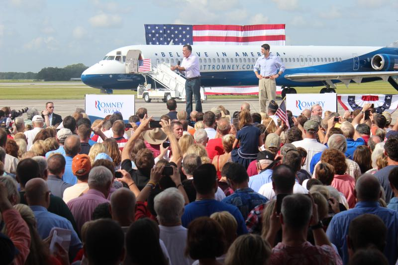 Mitt Romney and Paul Ryan campaign in Lakeland, FL