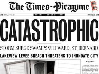 The Times-Picayune won a Pulitzer Prize for Hurricane Katrina coverage, but now is only publishing three days a week.