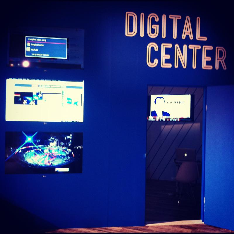 A look inside the digital center at the Google Lounge.
