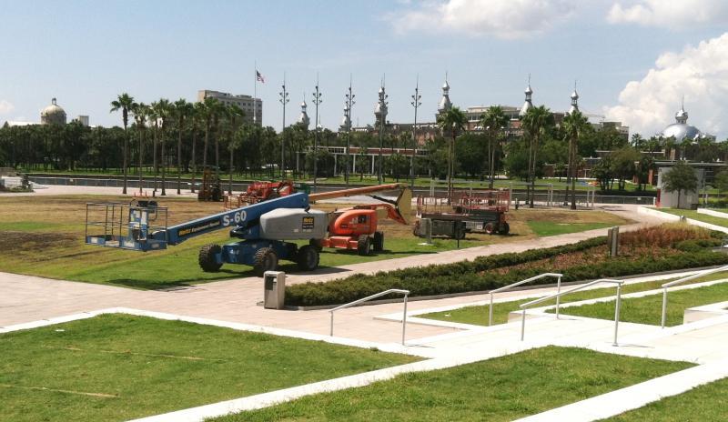 Cranes remain at Curtis Hixon Park