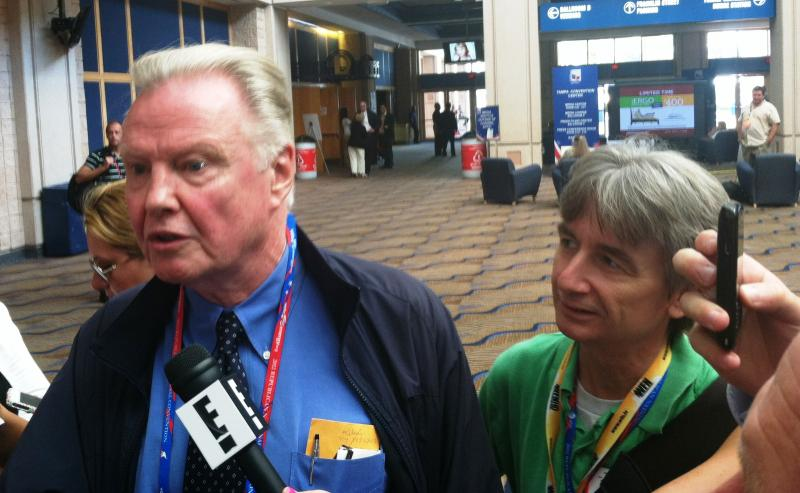 Florida Matters: The Convention host Carson Cooper shadows actor Jon Voight