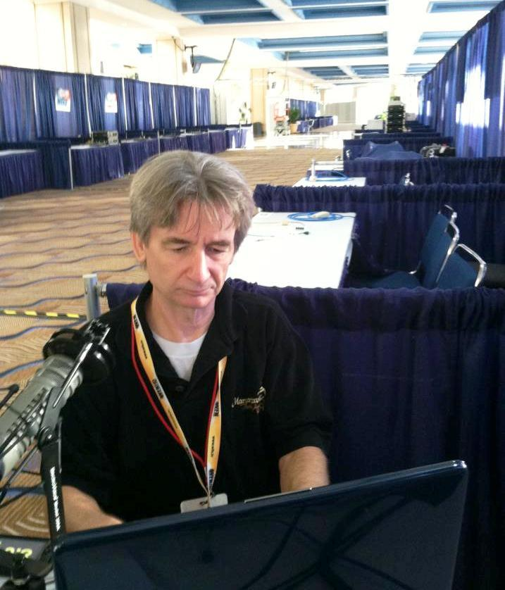 Florida Matters: The Convention host Carson Cooper works on Media Row the Friday before the RNC starts