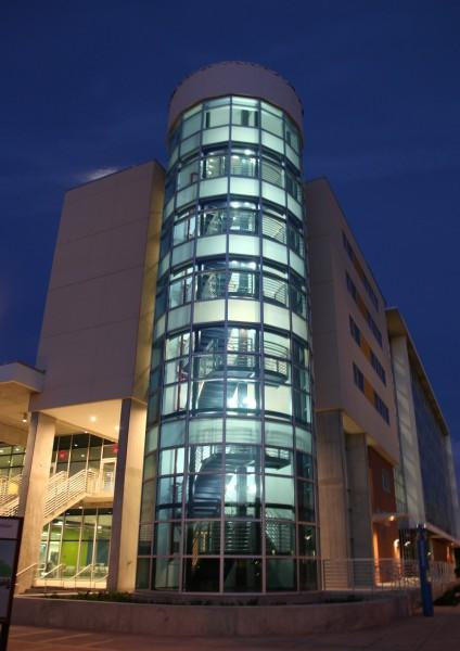 Residence hall tower in USF St. Pete's new Student Center