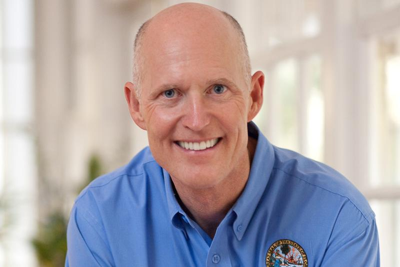 Florida Gov. Rick Scott before the Florida House.