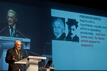 USF Eminent Scholar & Nobel Laureate (Physics, 1973) Ivar Giaever speaks at the Lindau Nobel Laureate Meeting