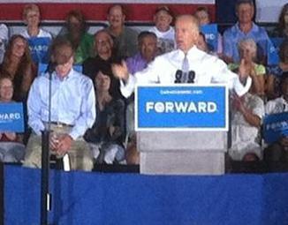 Joe Biden and Sen. Bill Nelson in Sun City Center