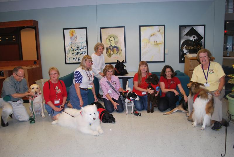 Members of the Pinellas County chapter of Therapy Dogs International