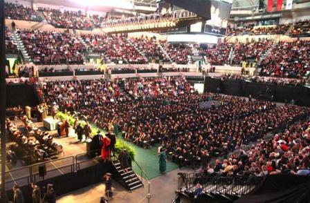 USF graduation ceremony in the Sun Dome