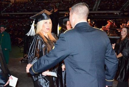 U.S. Army Specialist Taylor Livingston surprises sister Cassie Ladika