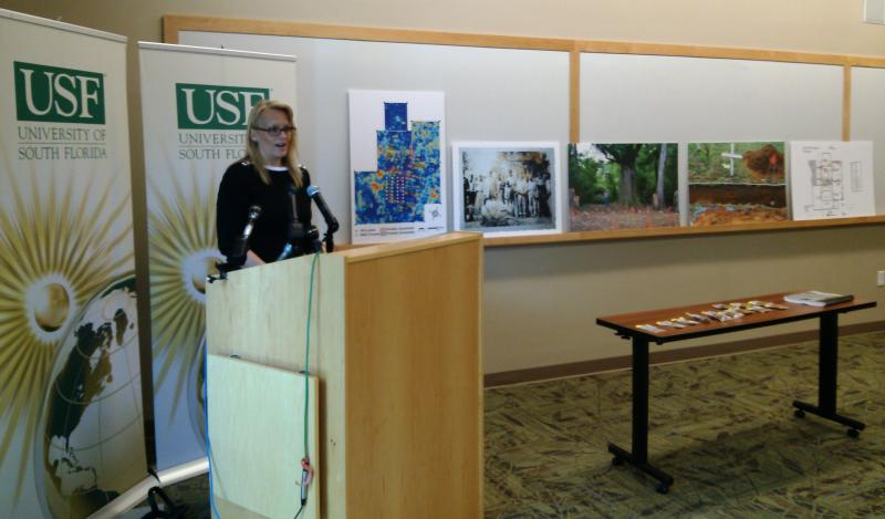 USF forensic anthropologist Erin Kimmerle presents the initial findings of work at Dozier School
