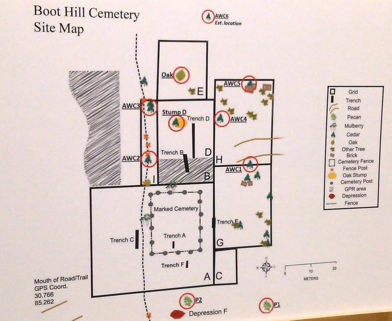 Boot Hill Cemetery site map