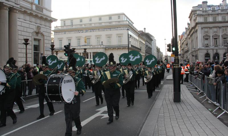 The Herd marches in the London's New Year's Day Parade