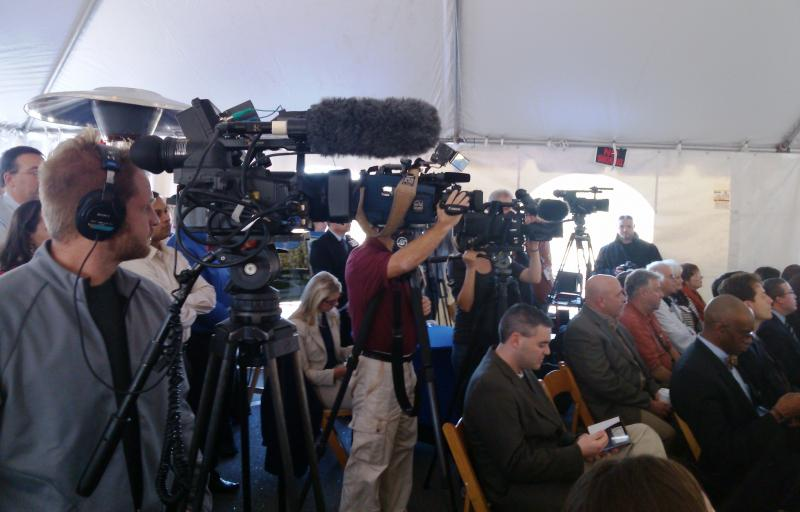 Media & audience at Moffitt ground-breaking press conference