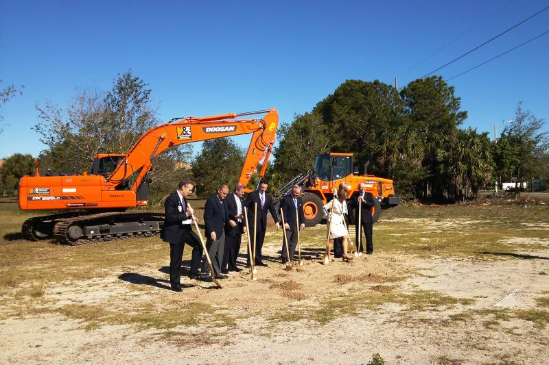 The official ground-breaking for the Moffitt Cancer Center McKinley Dr. Outpatient Facility