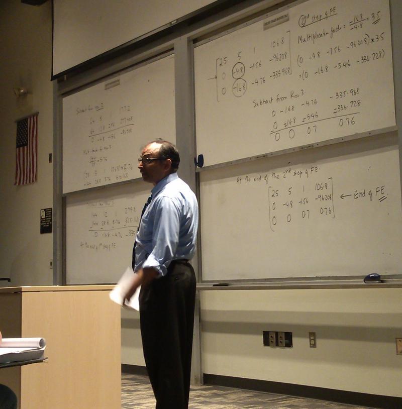 Kaw teaches his Computational Methods class