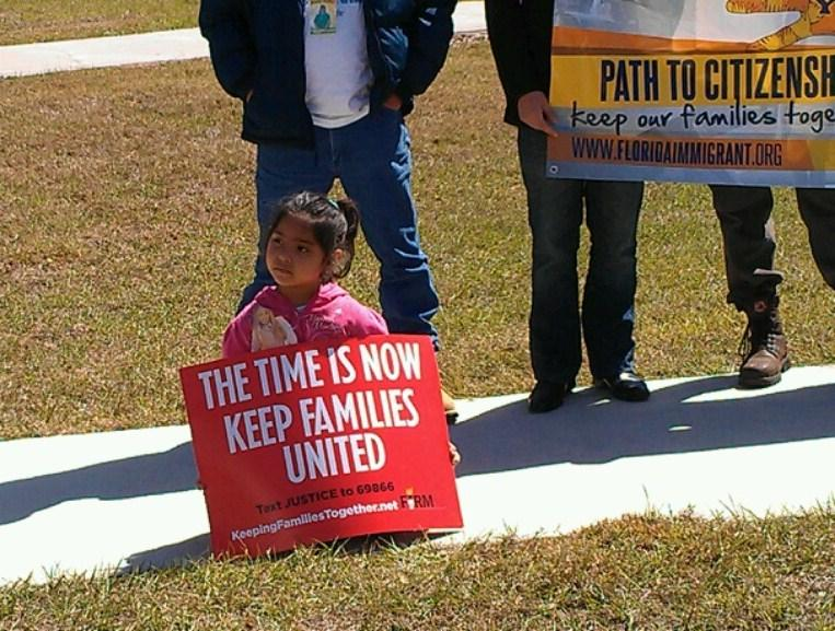 Ashley Guevara, 5, is an American citizen but her father, Jesus Guebara is facing deportation.