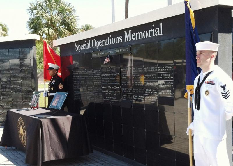 The Wall of Honor at the Special Operations Memorial located on MacDill Air Force Base, Tampa, FL.