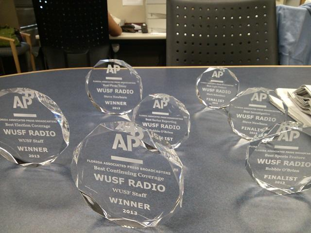 WUSF News' 3 First Place & 4 Finalist Awards from the AP Florida Broadcasters