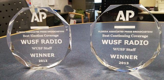 WUSF News Team's AP Florida First Place Awards for coverage of the RNC & 2012 Election