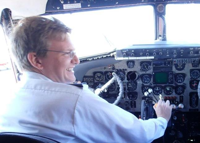 William McCombie not only has his driver's license but also his pilot's license.