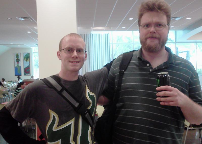 William Gregory (Right) mentors Andrew Casey (Left) through the Learning Academy at USF.