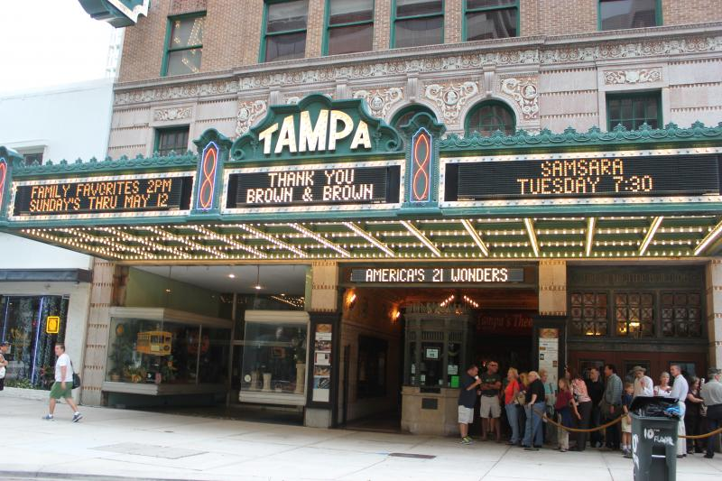 Tampa Theatre opened in 1926.