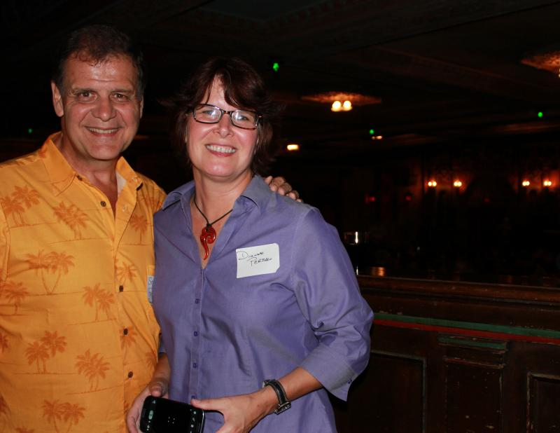 Tampa Bay Times film critic Steve Persall and his wife, Dianne, were all smiles at Tampa Theatre's digital debut.