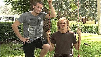 Swings Tampa Bay creators Reuben Pressman (l) & Hunter Payne (r) pose in a photo from 2011