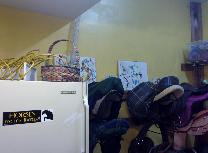 One of the tack rooms at Rockin' Horse Farm.