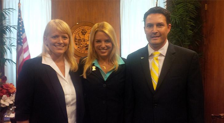 SF researcher Dr. Erin Kimmerle, FL Attorney General Pam Bondi, USF researcher Dr. Christian Wells