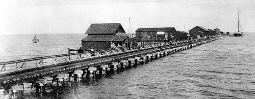 The Railroad Pier was constructed in 1889.