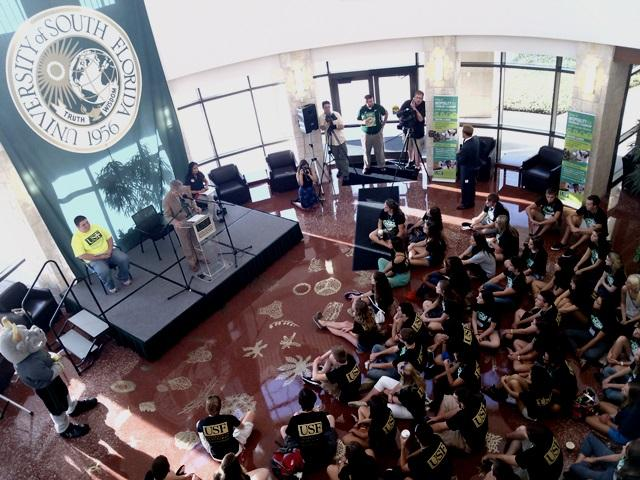 Formal welcoming ceremony for the USFSM Class of 2017