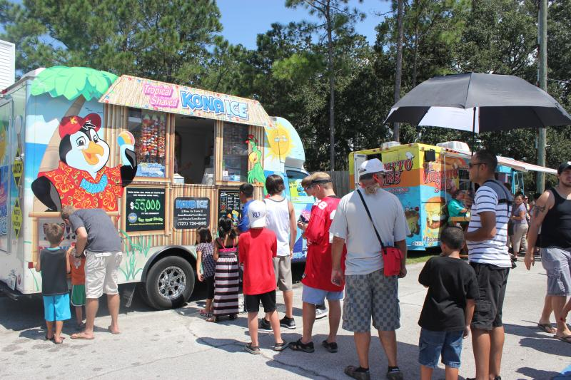 Organizer Jeremy Gomez estimated that 32,000 people attended the food truck rally at the Florida State Fairgrounds.