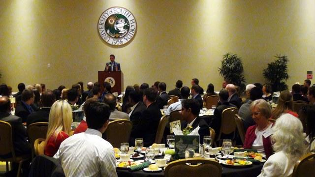 USF College of Business Dean Moez Limayem speaks at the Business Scholarship luncheon