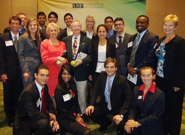 Recipients of the USF Business Honors Program Study Abroad Scholarship