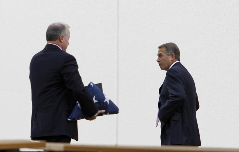 House Speaker John Boehner before the funeral