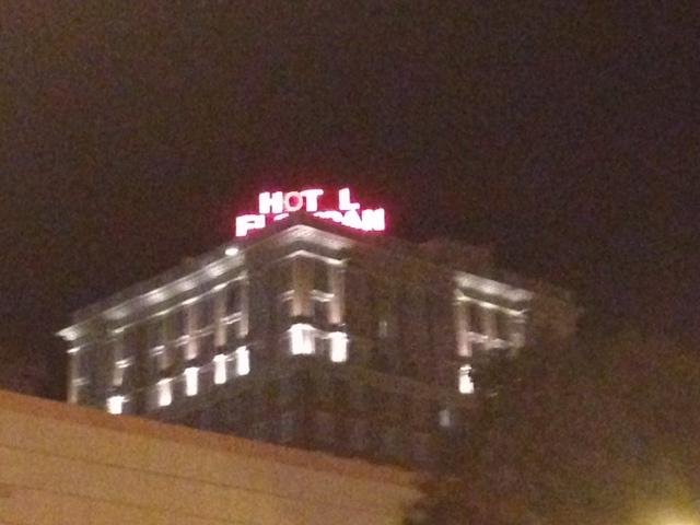 Hotel Floridan's sign has been checked by various electrical engineers and nothing can be said to be wrong with it. Still, not all letters glow in the night.