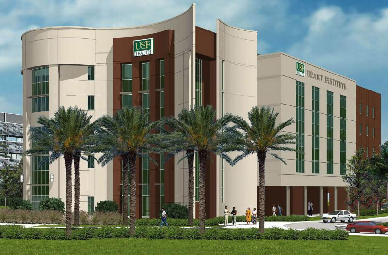 Architect's rendering of USF Health Heart Institute