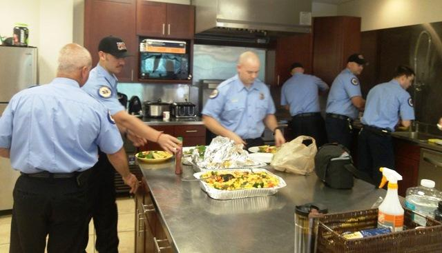 Temple Terrace firefighters dig in