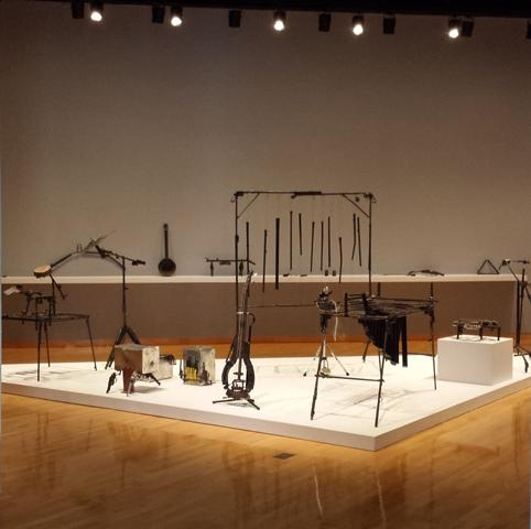 "Some of the instruments in ""Imagine,"" now on display at USFCAM through March 7"
