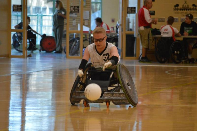 Leevi Ylönen, a member of the Finnish National Wheelchair Rugby Team, plays have the year with the Tampa Generals. He was recruited by the team much like college teams recruit athletes.