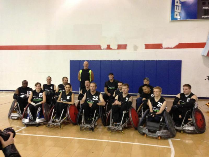 The Tampa Generals Wheelchair Rugby Team photo.