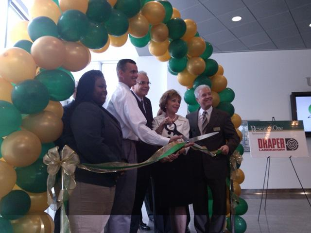The ribbon-cutting for the USF Student Innovation Incubator