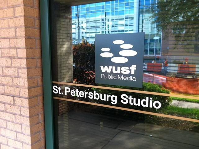 Outside of the new WUSF studio at USF St. Petersburg